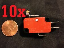 10x NEW V-155-1C25 MICRO SWITCH SPDT HINGE ROLLER LEVER 15A  B1