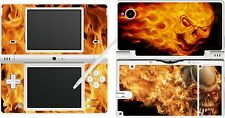 NINTENDO ndsi DSi - FLAMING SKULLS - 4 Piece - vinyl Sticker Skin cover
