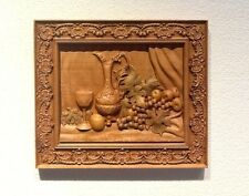 Wood carving Still Life-2 wall plaque/picture