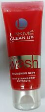 Lakme Face Wash  Clean Up  100 GM  Nourishing Glow  With Strawberry Extract