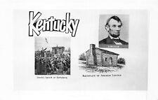 ABRAHAM LINCOLN KENTUCKY-1950s REAL PHOTO POSTCARD