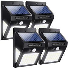 60 LED Solar Power PIR Motion Sensor Outdoor Garden Yard Wall Light 3 Sided Lamp