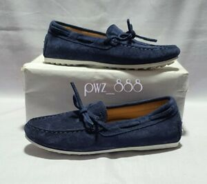 TODS Junior Kid's Blue Suede Loafers Size 33