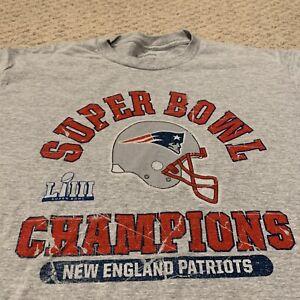 New England Patriots Super Bowl LIII Champions T Shirt NFL Football Mens Large