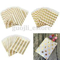 25/50Pcs Foil Gold Paper Sweet Bag Candy Favor Wedding Party Birthday Gift Decor