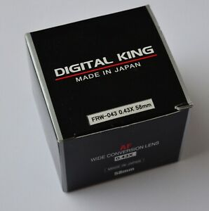 Digital King Super Wide 0.43x  Conversion Lens with Macro +10  with  58mm  fit