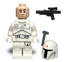 LEGO STAR WARS WHITE BOBA FETT Minifigure with Blaster Gun Prototype NEW 2015