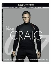 James Bond: The Daniel Craig Collection (Blu-ray 4K) Casino Royale Skyfall NEW