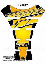 Yamaha Fazer 600 1000 FZS Yellow Motorcycle Tank Pad Motografix 3D Gel Protector