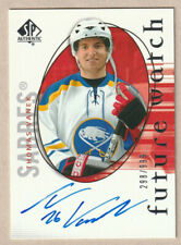 2005-06 SP Authentic #139 Future Watch Auto RC Thomas Vanek Buffalo Sabres