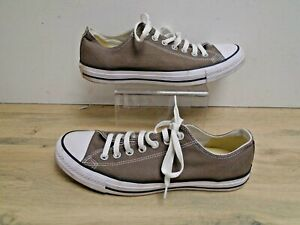 Converse All Star Low Top Brown Canvas Unisex Trainers UK Size 9
