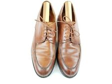JOHNSTON & MURPHY PASSPORT MEN OXFORD US 11.5  M  M BROWN LEATHER MADE IN ITALY