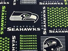 """SEATTLE SEAHAWKS NFL PATCHWORK 60"""" Cotton Fabric Half Yard Fabric Traditions"""