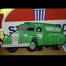"""SINCLAIRE OIL COMPANY TANKER TRUCK SIGN - VERY LARGE SIZE 22"""" x 47"""" BRAND NEW!"""