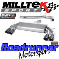 "Milltek Audi S3 8v 3-Door RACE Exhaust 3"" NON VALVED Non Res Black GT SSXAU522"