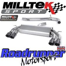"""Milltek Audi S3 8v 3-Door Race Auspuff 3"""" nicht Valved nicht Res schwarz GT SSXAU522"""