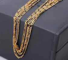"""5PCS 16-18-20-22-24-26-28-30""""18K Yellow Gold Filled 2.5MM Figaro Chain Necklaces"""