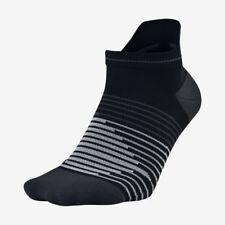 Nike Performance Lightweight No Show Running Socks Size UK 5-8 Black Grey