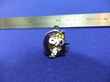 vtg snoopy pendant charm letter initial G blue 1970s peanuts schulz cartoon