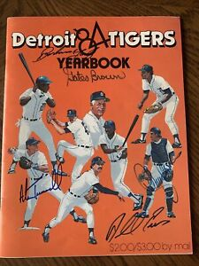 1984 Detroit Tigers AUTOGRAPHED Yearbook  Anderson, Whitaker, Trammel, Morris,