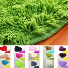 Heart Shaped Cushion Bedroom Rug  Soft Fabric Floor Mat Carpet Room Area Rugs
