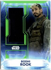 Star Wars Topps 2021 Battle Plans Bodhi Rook Sourced Fabric Jumpsuit Relic Card
