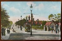 Great Western Road Glasgow Scotland Postcard Trams Reliable Series Postmark 1912