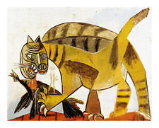 Pablo Picasso Cat Devouring Bird canvas print giclee 8X12&12X17 art reproduction