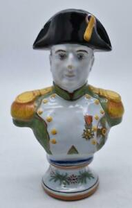 EXCELLENT FRENCH FAIENCE NAPOLEON BUST FIGURE - VEUVE PERRIN MARK