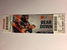 CHICAGO BEARS VS CLEVELAND BROWNS AUGUST 31, 2017 TICKET STUB