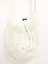 NB02 CROCHET KNIT SHOULDER BAG M HOBO SLING HANDICRAFT WEAVE HANDMADE CROSSBODY