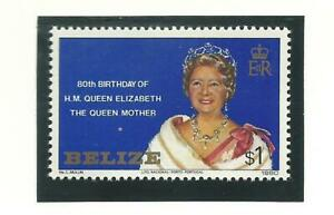 Belize - Queen Mother 80th Birthday - Mint NH Single