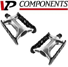 VP Components 516A Alloy Bike Platform Track Pedal Black/ Silver Mountain Hybrid