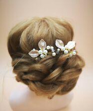 2x Gold Bridal Wedding Pearl Hair Pin Accessories  Rhinestone Hair Jewellery