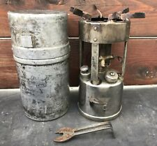 VINTAGE MILITARY COLEMAN STOVE FOUND MODEL 530 WITH ORIGINAL CANISTER
