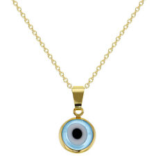 18k Gold Plated Protection Evil Eye Pendant Necklace Amulet Ladies 19""