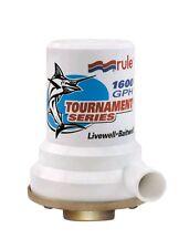 Rule Tournament Series Bronze Base 1600 GPH Livewell Pump 209B