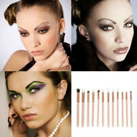 12pcs Professional Eye Makeup Brush Set Eyeshadow Eyebrow Blending Brushes Beige