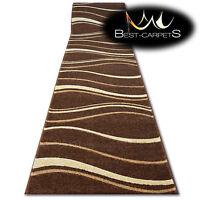 Runner Rugs, FOCUS 8732 brown, modern, Stairs Width 70 cm - 200 cm extra long