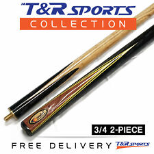 "1x 3/4 2-Piece Jupiter Snooker Cue 57"" 9.5mm Tip for Pool Billiard Free Post"