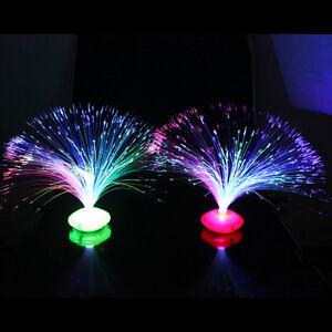rbwechsel LED Fiber Optic Nachtlicht Lampe Stand Home koration ZY