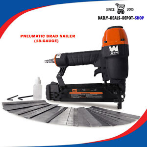 18-Gauge Pneumatic Brad Nailer 3/8-Inch To 2-Inch With 2000 Nails 61721 Tool Kit