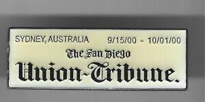 2000 San Diego Union Tribune Sydney Olympic Pin Press Media