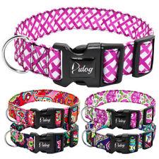 Nylon Dog Collars for Medium Large Dog Floral Dog Wide Adjustable Collar Bulldog