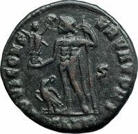 LICINIUS I Authentic Ancient 313AD Genuine Roman Coin JUPITER EAGLE i79363