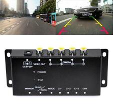 Car Auto 4-Way Video Switch Parking Camera 4 View Image Split-Screen Control Box