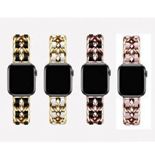 Top Leather Bling Wrist Band For Apple Watch Series 5/4/3/2/ 38mm 40mm 42mm 44mm