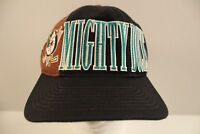 Vtg Anaheim Mighty Ducks NHL Starter Snapback Hat Hockey Cap Spellout Tri Power