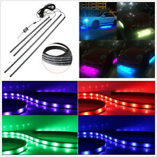 4 Pcs 12V RGB LED Car Bluetooth Phone APP Control Atmosphere Light Chassis Lamps