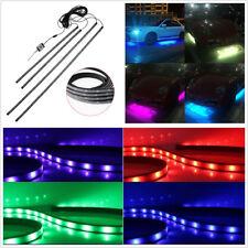 4 Pcs 12V RGB LED Car Bluetooth Phone APP Control Atmosphere Light Chassis Lamps
